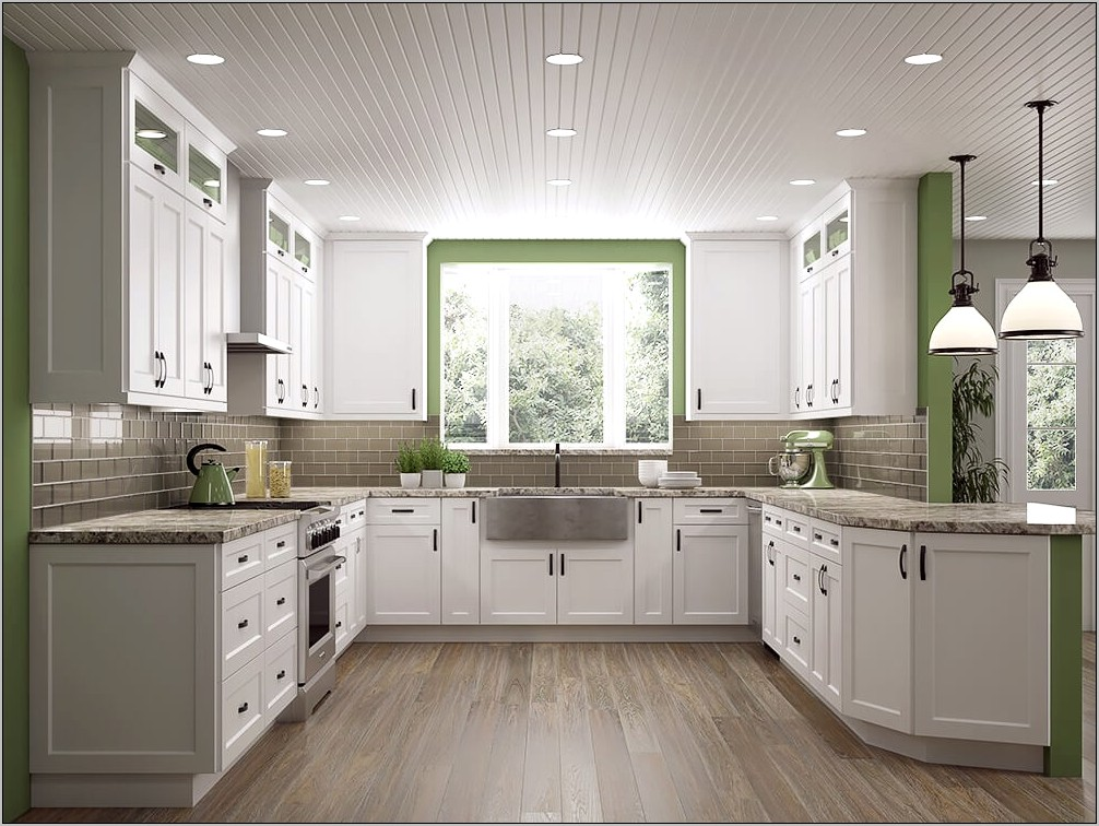 White Shaker Kitchen With Decorative Fillers