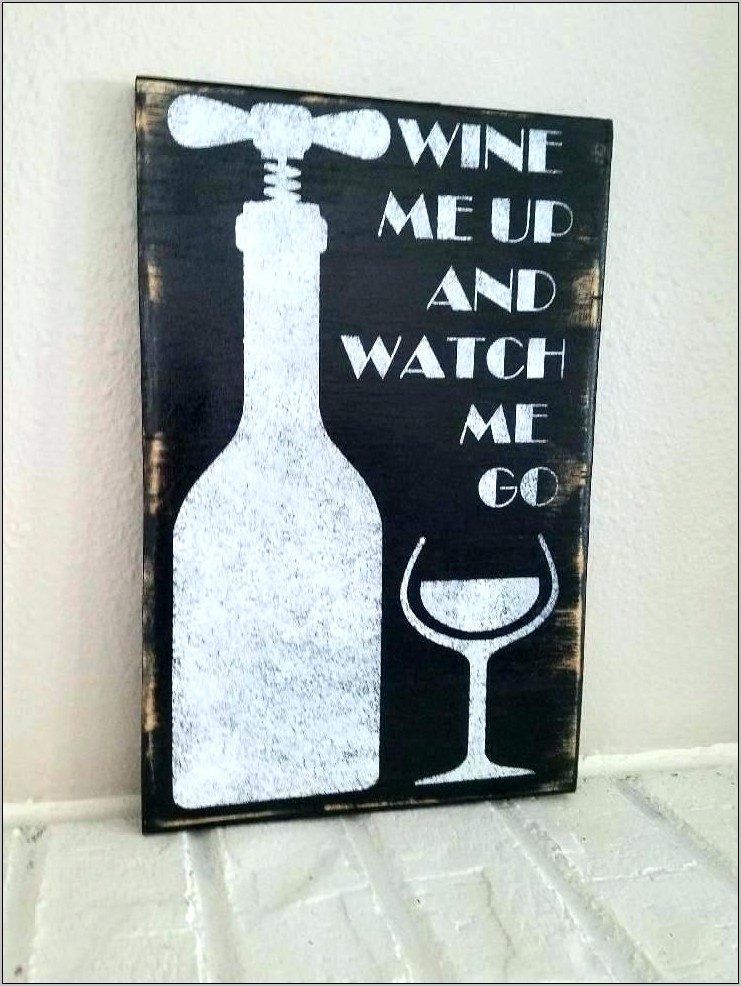 Wine Bottle Art Vineyard Kitchen Wall Decor