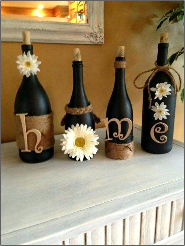 Wine Bottle Themed Kitchen Decor