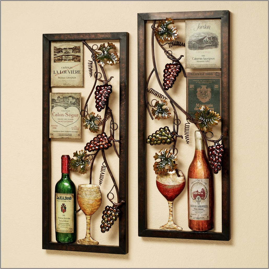 Wine Decor Kitchen Clocks