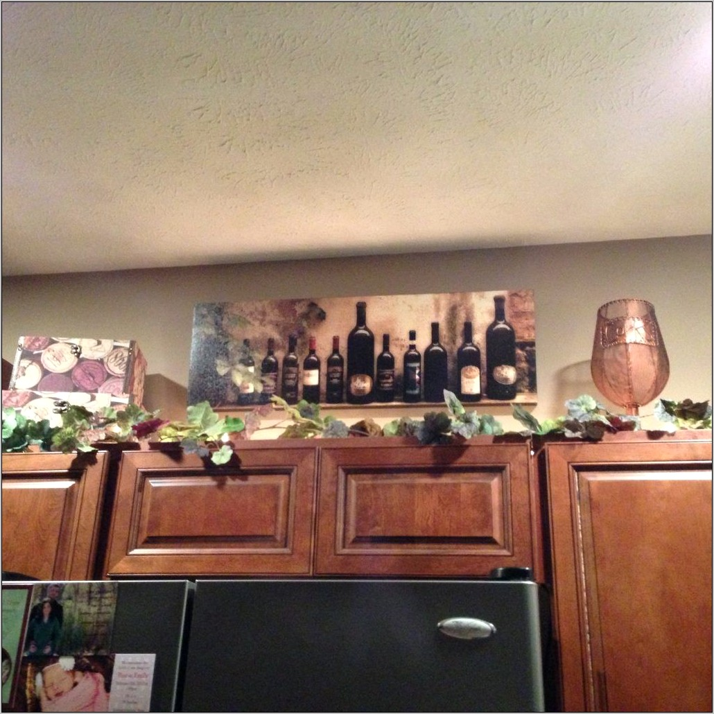 Wine Decorations For Above Kitchen Cabinets