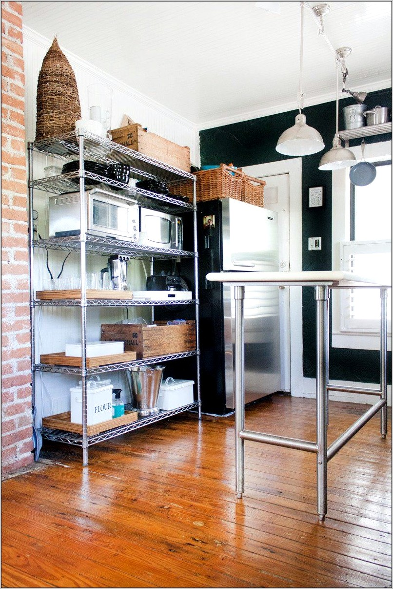 Wire Shelving Kitchen Decorating Ideas