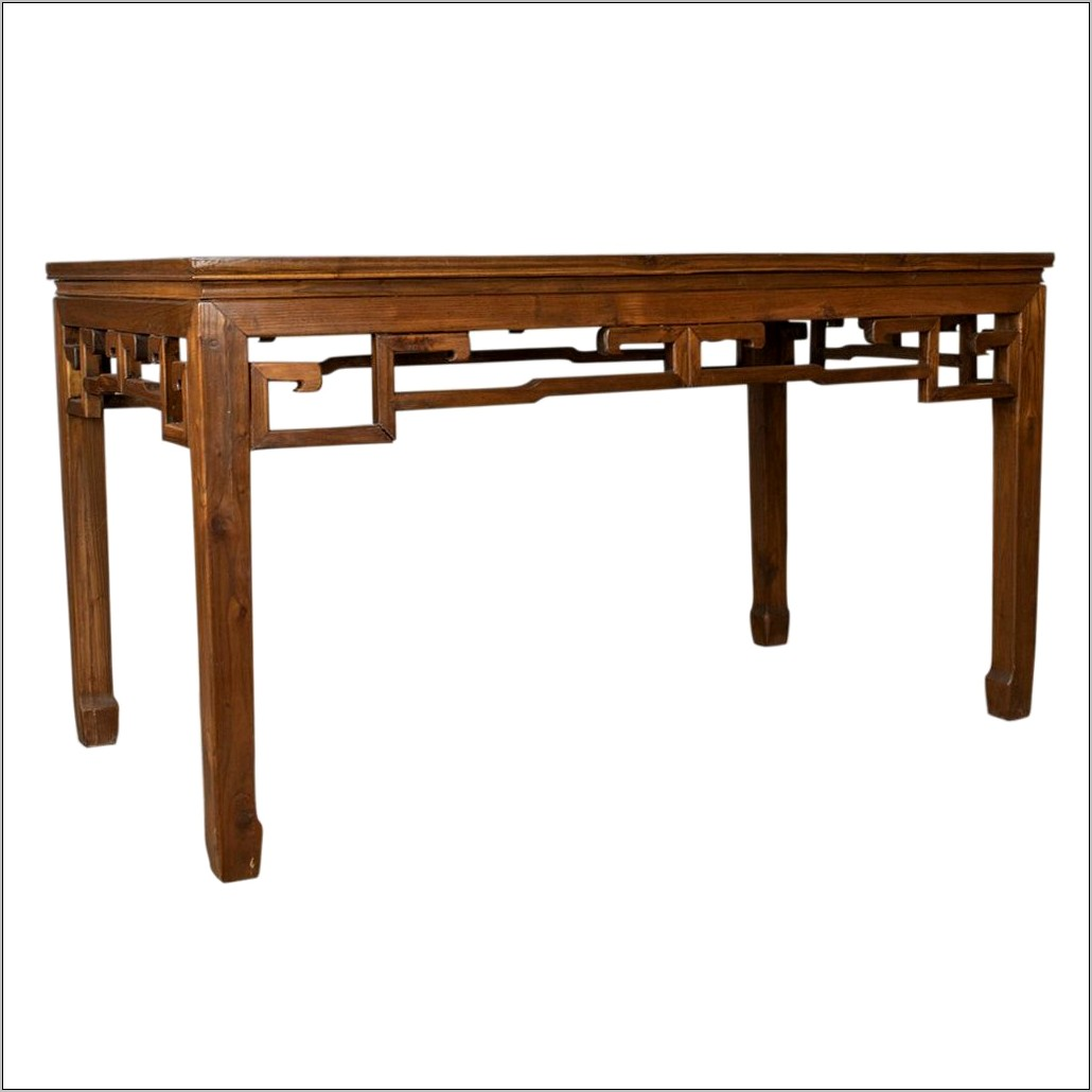 Wood Engraved Decorative Kitchen Table Oriental