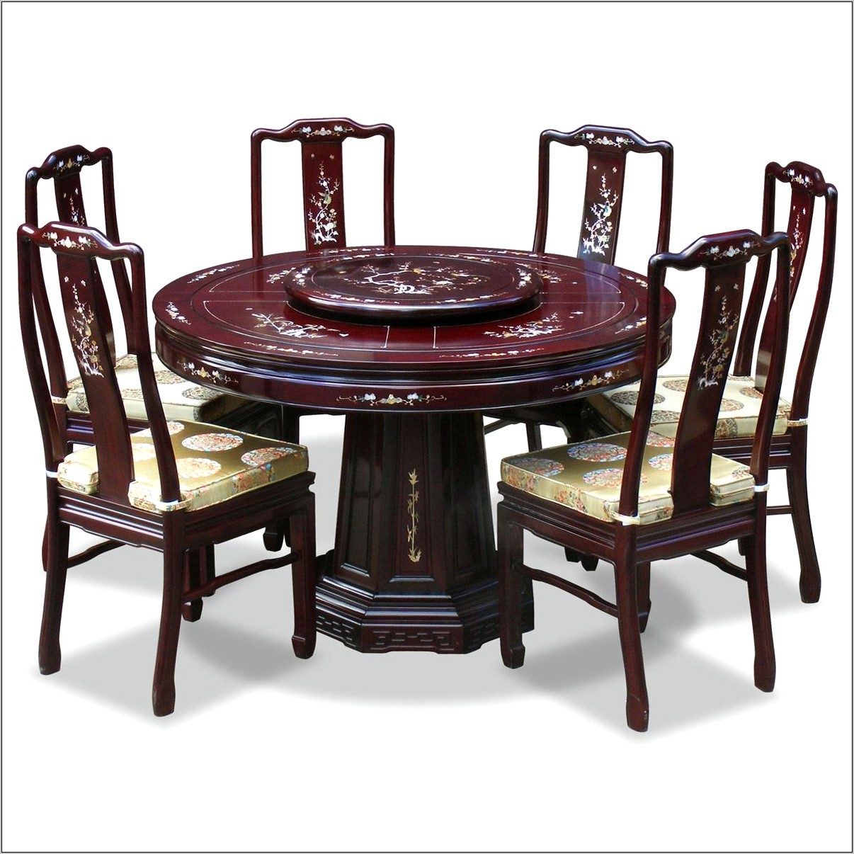 Wood Ingraved Decorative Kitchen Table Oriantal
