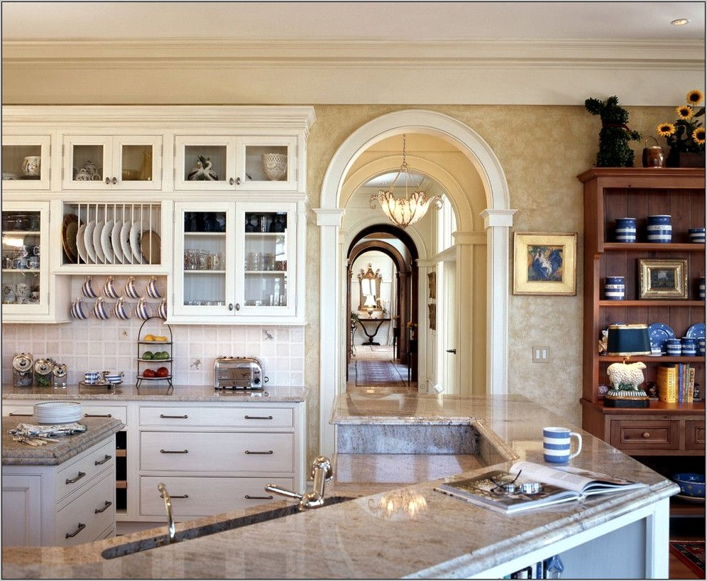Wooden Arch Decor For Kitchen