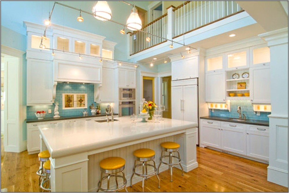 Yellow And Blue Kitchen Decorating Ideas