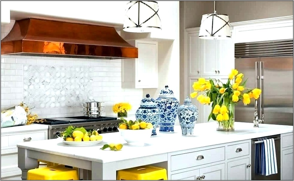 Yellow And White Decorations For Kitchen
