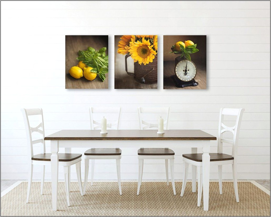 Yellow Country Kitchen Decor