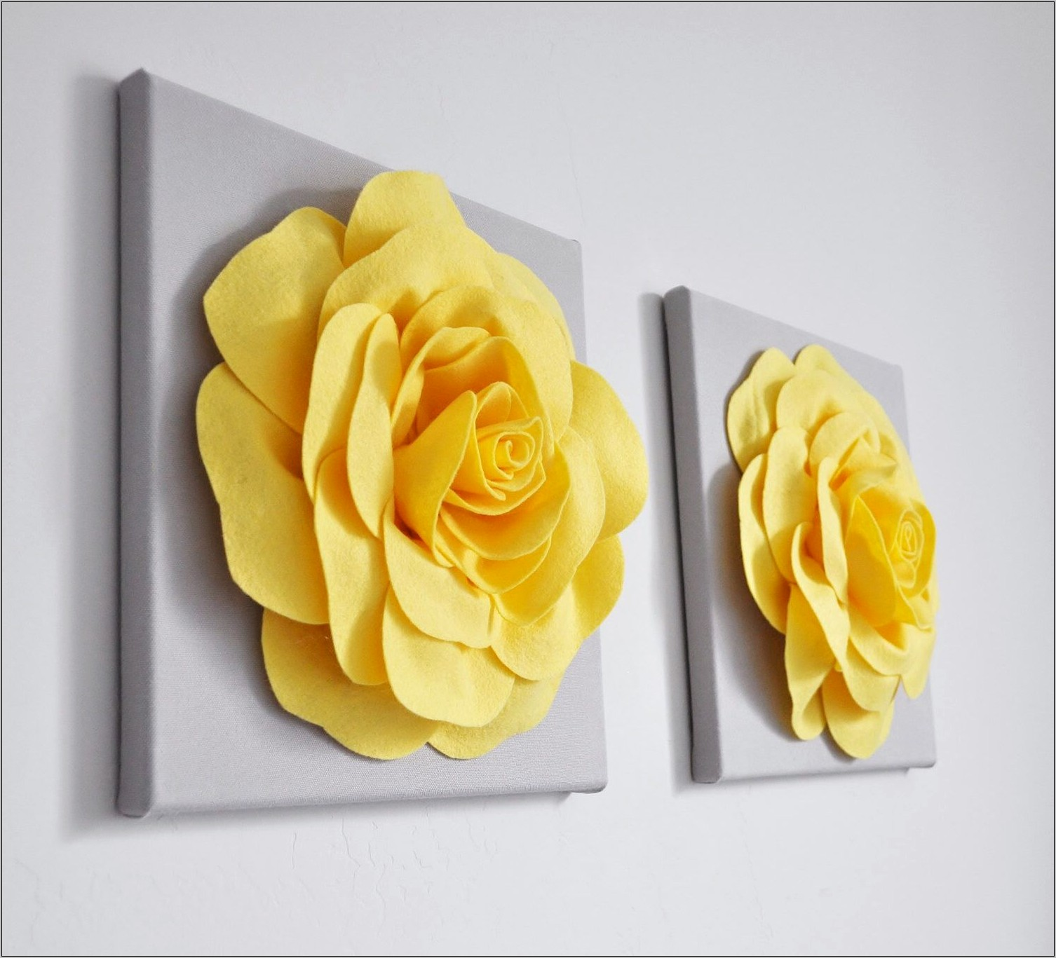 Yellow Rose Wall Decor For Kitchen