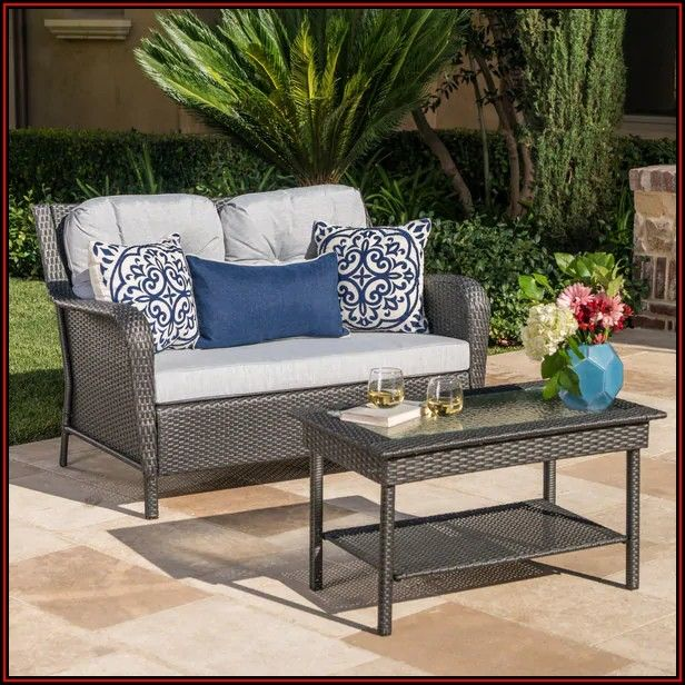 2 Piece Patio Set With Table