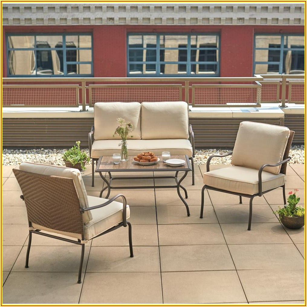 4 Piece Patio Conversation Set