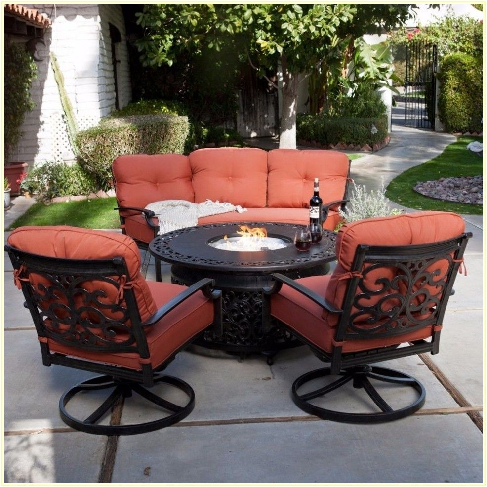 4 Piece Patio Set With Fire Pit