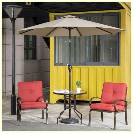 4 Piece Patio Set With Umbrella