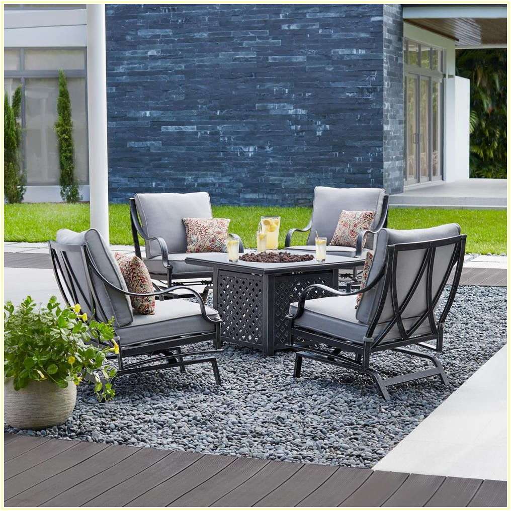 5 Piece Patio Set With Fire Pit