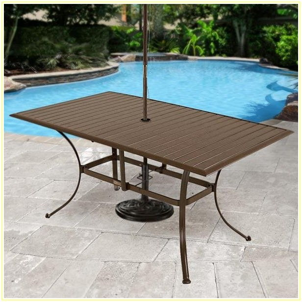 6 Person Patio Table With Umbrella Hole