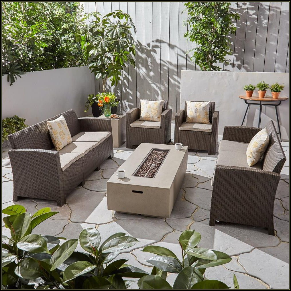 6 Piece Wicker Patio Set