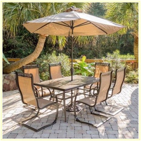 7 Piece Patio Dining Set With Tile Top