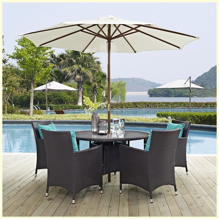 7 Piece Patio Dining Set With Umbrella