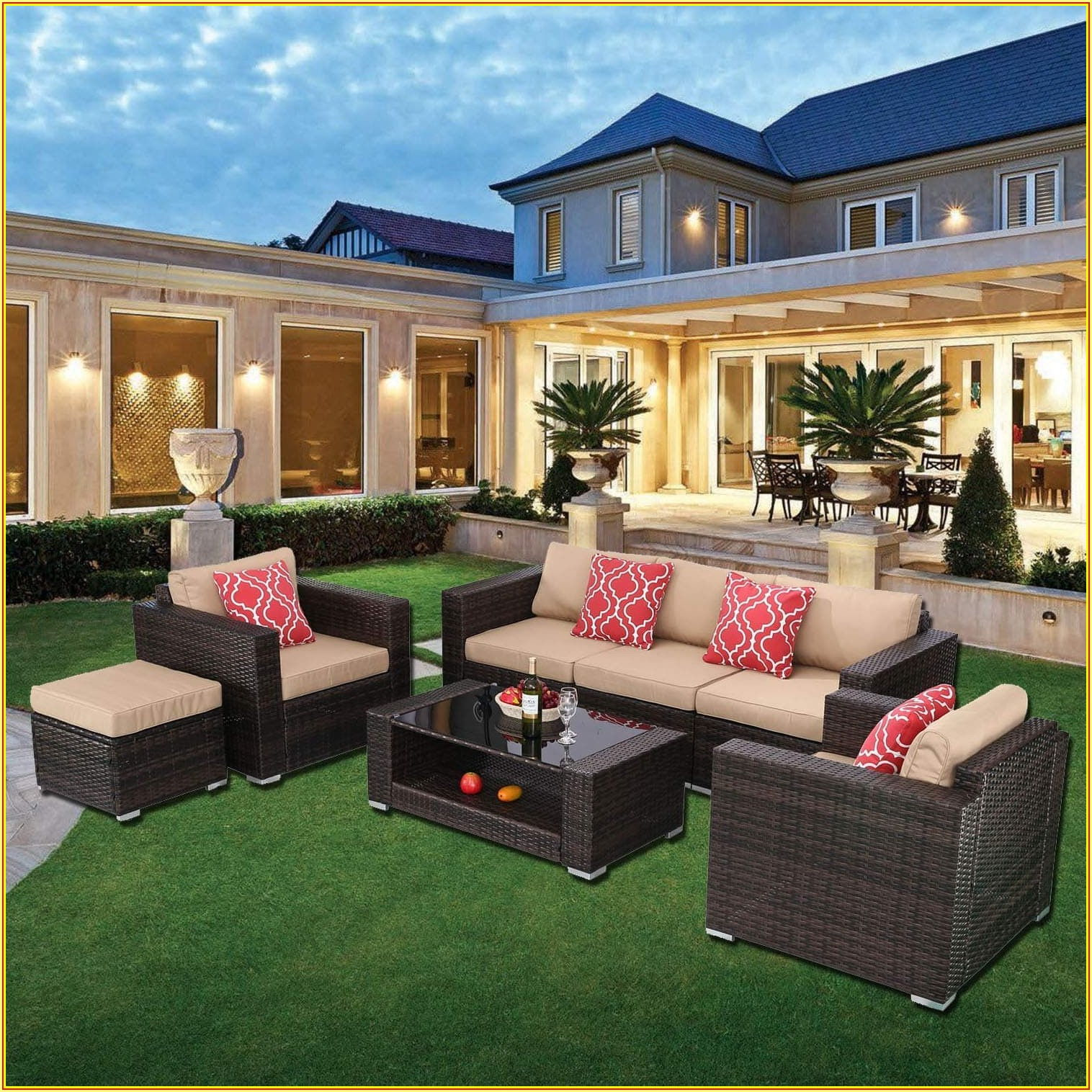 7 Piece Patio Furniture
