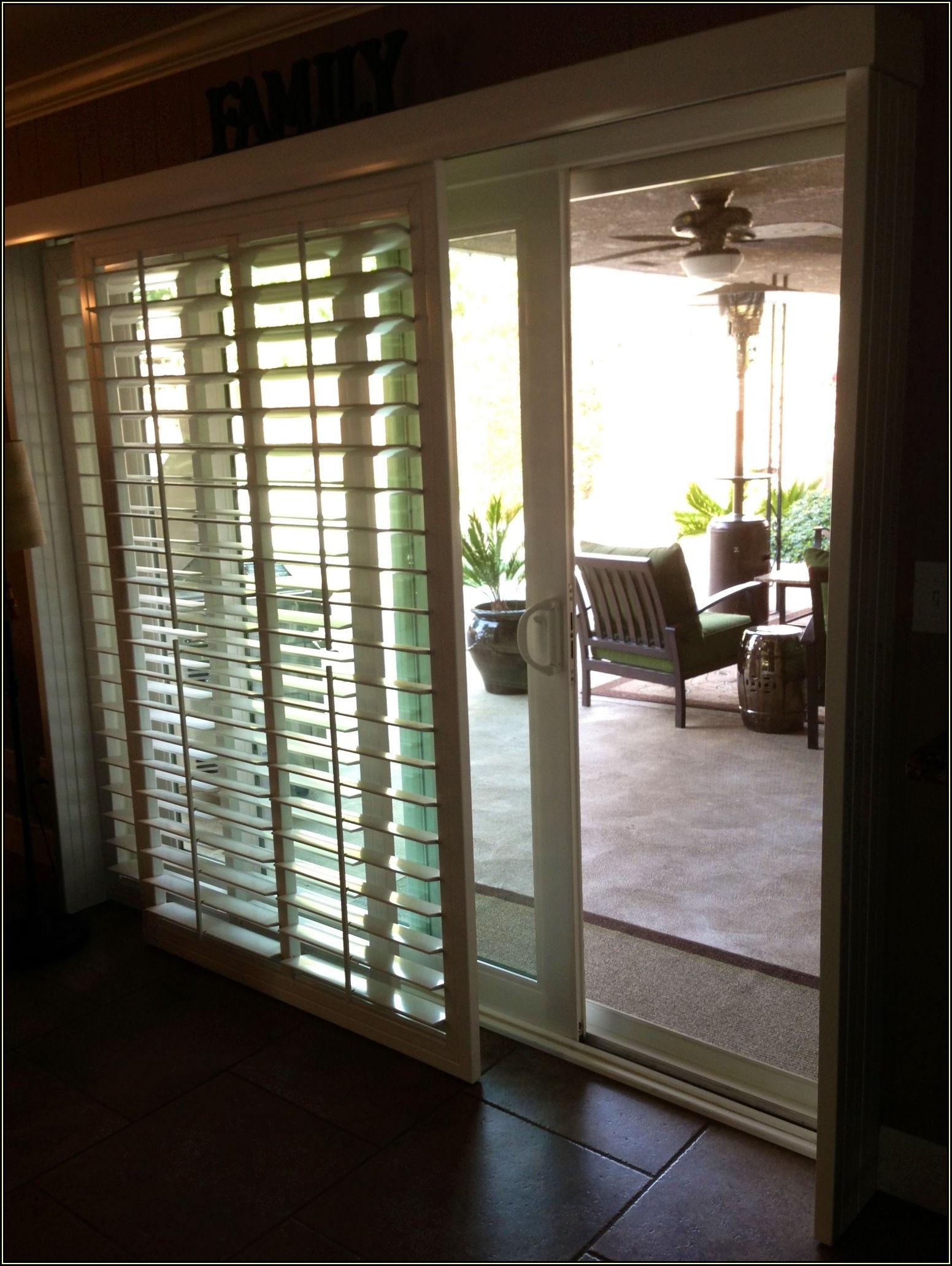 72x80 Sliding Patio Door With Blinds