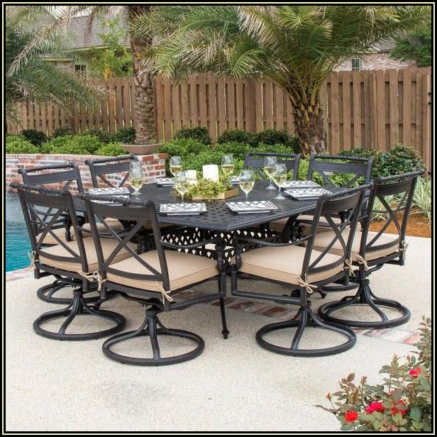 9 Piece Patio Dining Set Cast Aluminum
