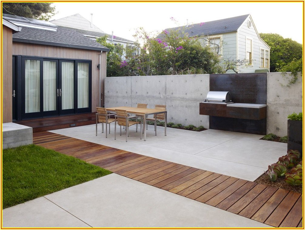 Backyard Concrete Patio Decorating Ideas