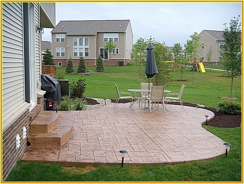 Backyard Concrete Patio Design Ideas