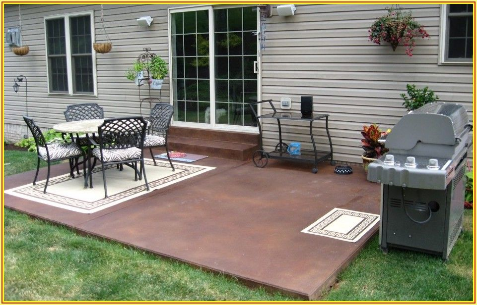 Backyard Concrete Patio Ideas On A Budget