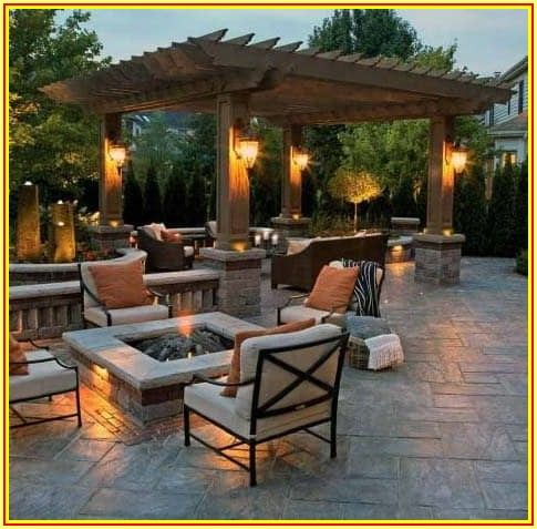 Backyard Covered Concrete Patio Ideas