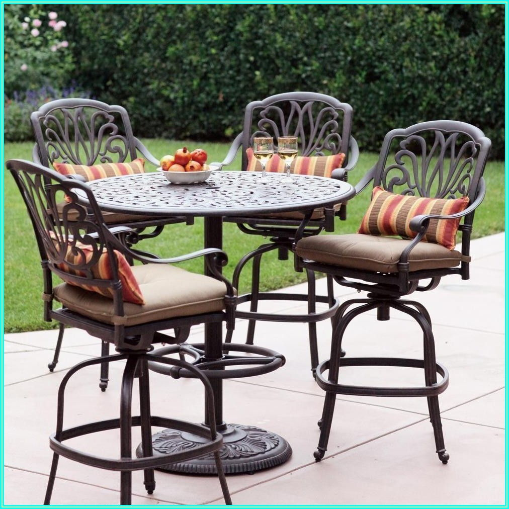 Bar Height Patio Dining Set For 4