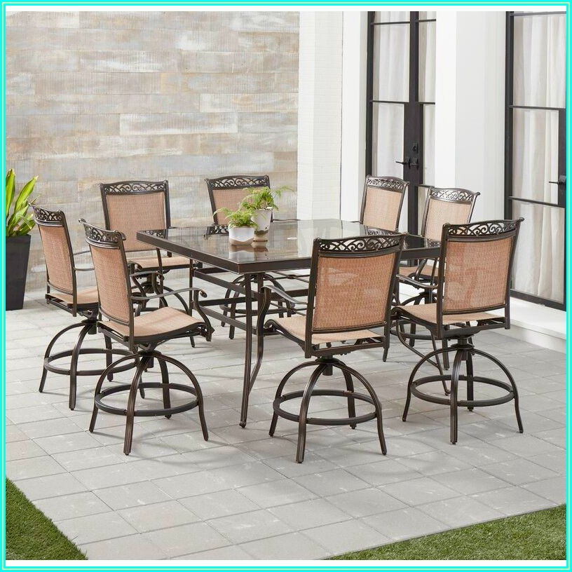 Bar Height Patio Dining Set For 6