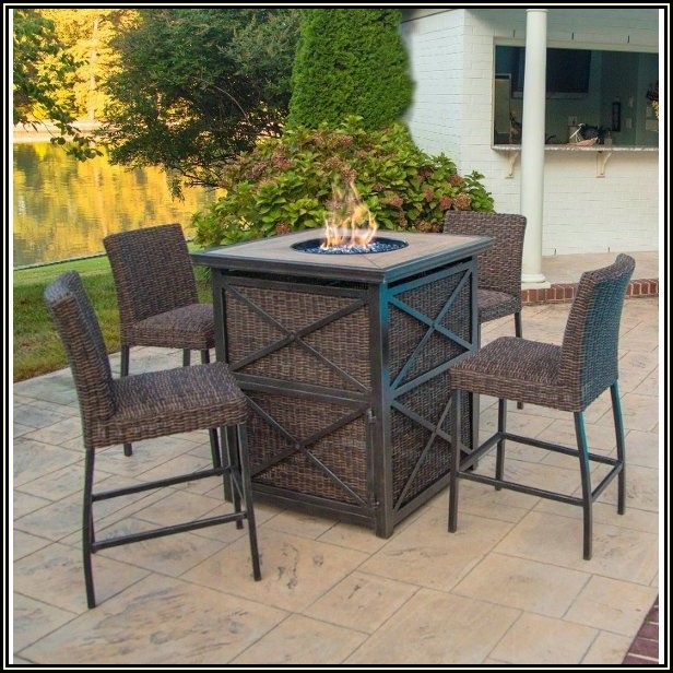 Bar Height Patio Furniture With Fire Pit