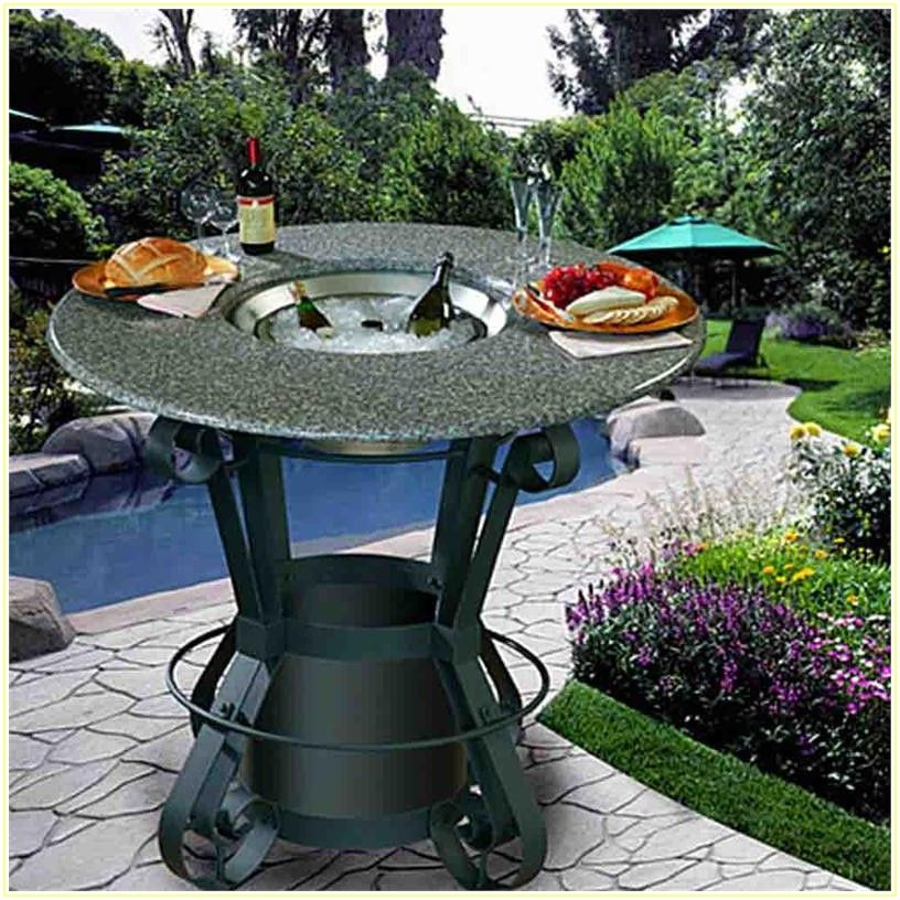 Bar Height Patio Table With Fire Pit