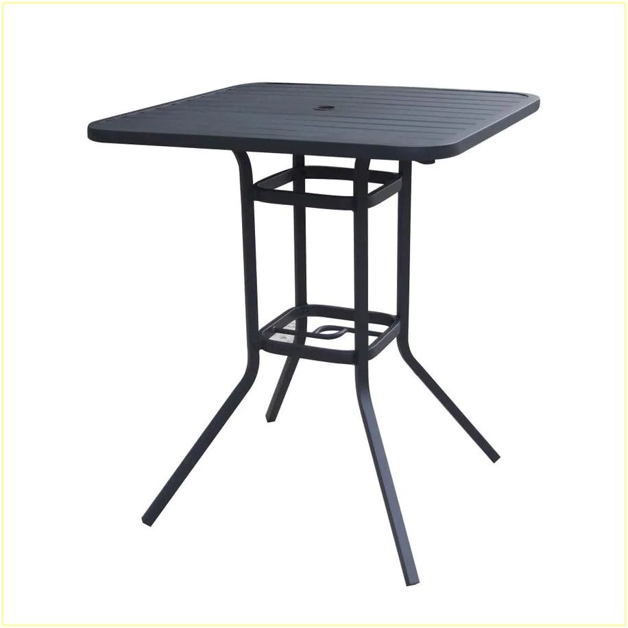 Bar Height Patio Table With Umbrella Hole