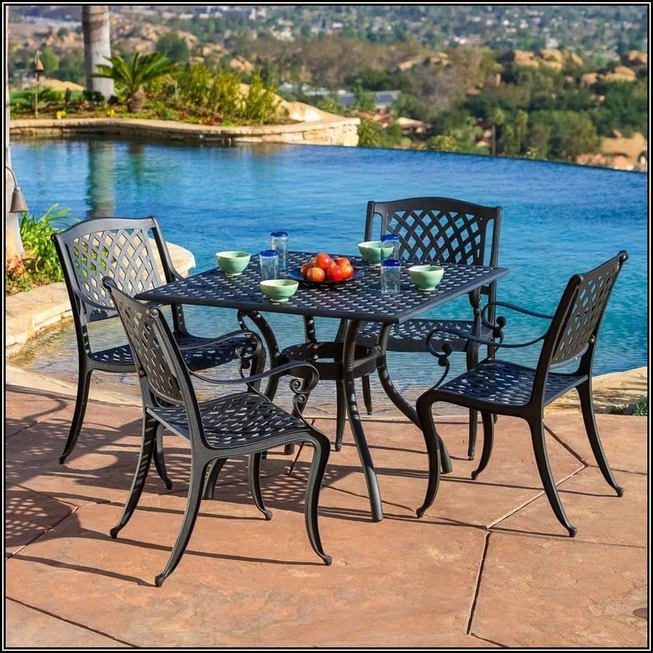 Black Metal Patio Dining Sets