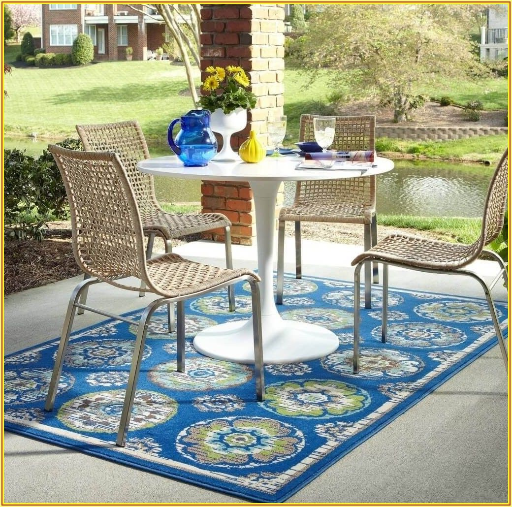 Blue Outdoor Patio Rugs
