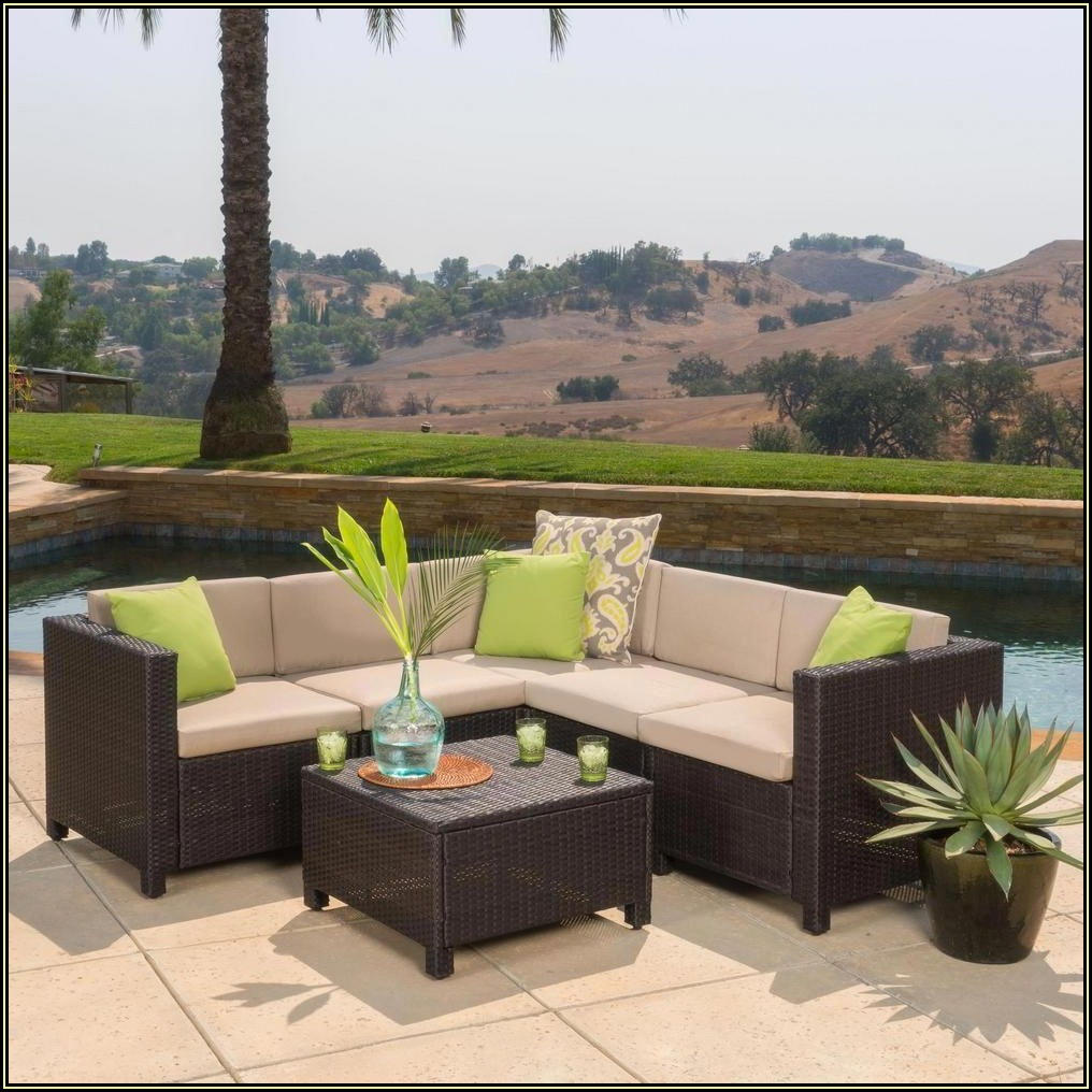 Brown Wicker Patio Furniture Home Depot