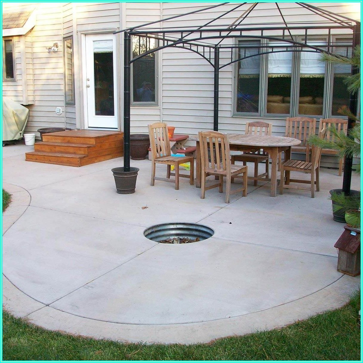 Budget Concrete Patio Ideas For Small Backyards