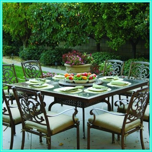 Cast Aluminum Patio Table With Lazy Susan