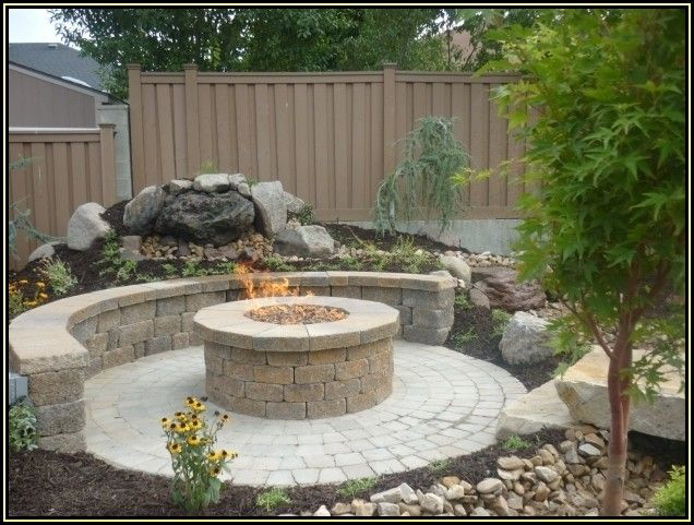Circular Paver Patio With Fire Pit