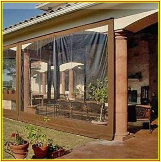 Clear Vinyl Temporary Patio Enclosure Winter