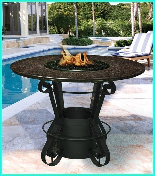 Counter Height Patio Set With Fire Pit