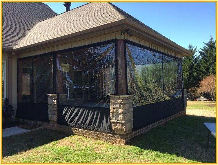 Diy Temporary Patio Enclosure Winter