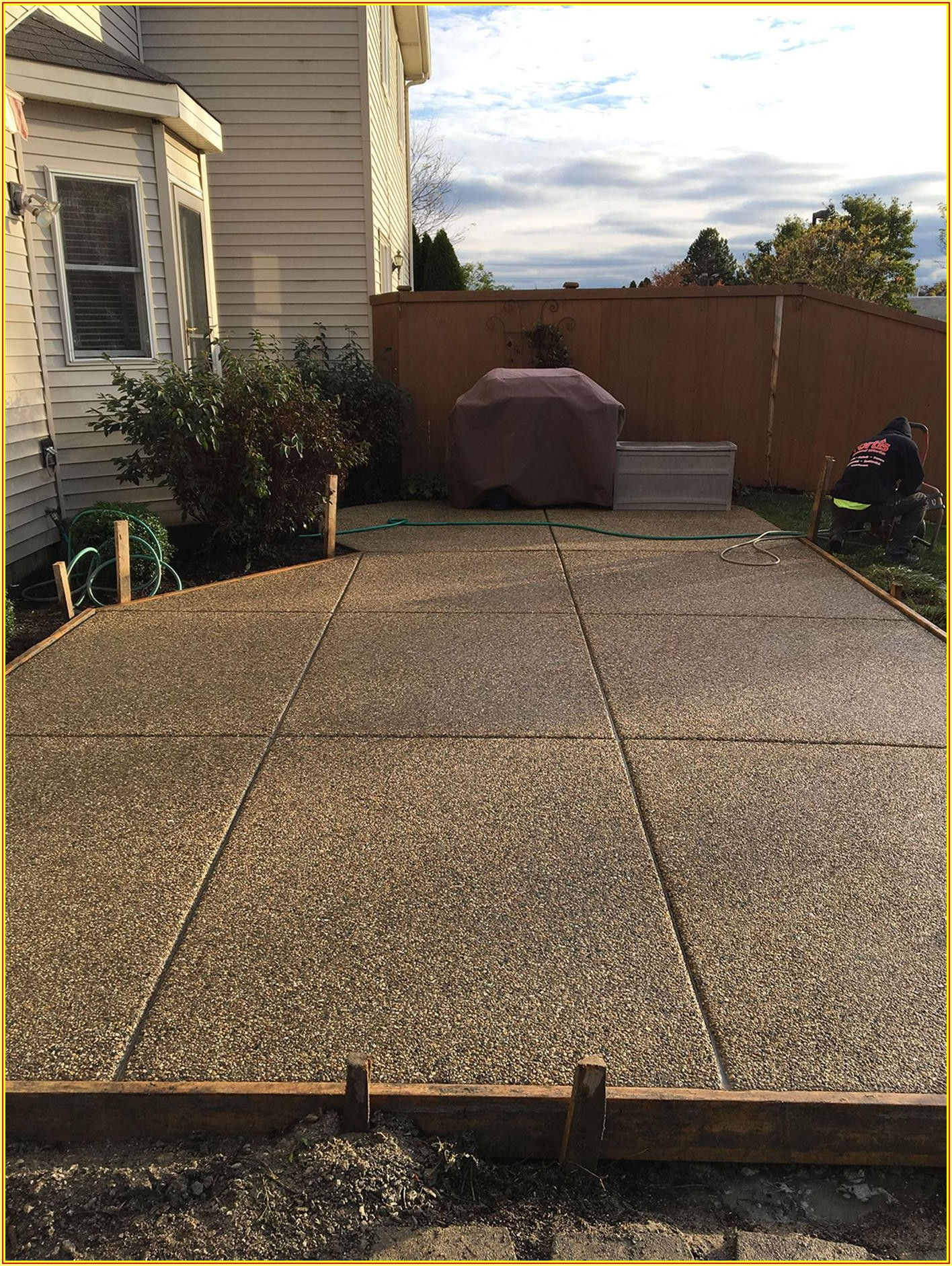 Exposed Aggregate Concrete Patio Images