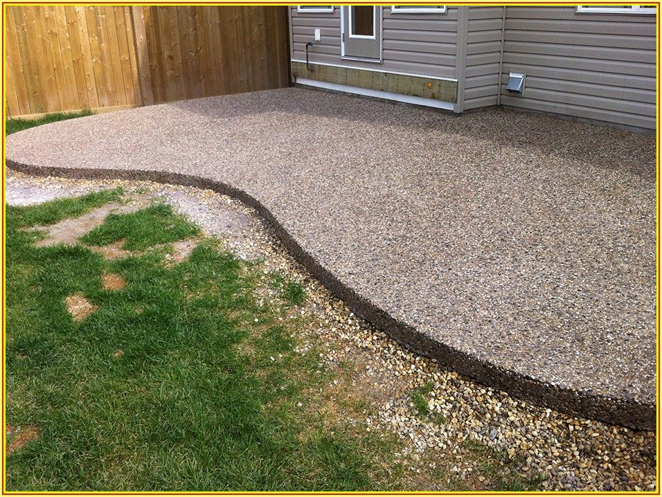 Exposed Aggregate Concrete Patio