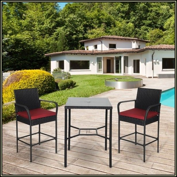 High Back Patio Chairs And Table