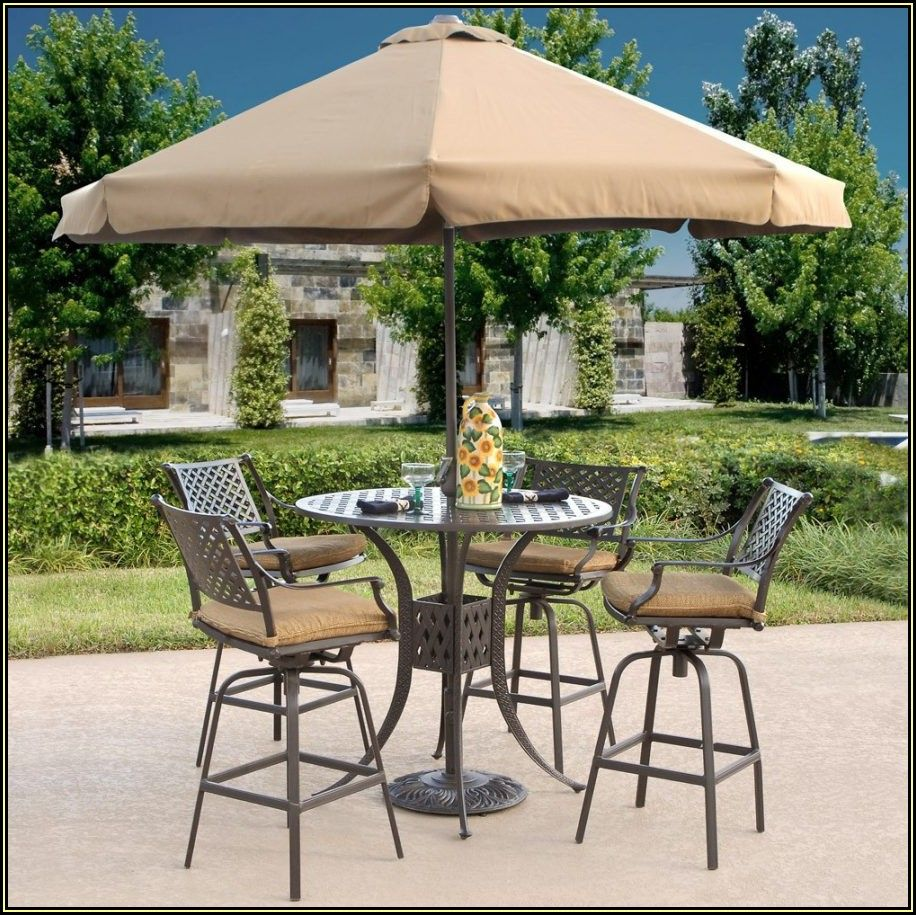 High Top Patio Table And Chairs With Umbrella