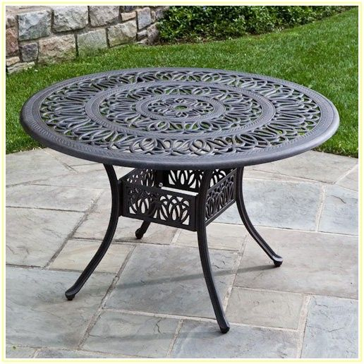 Iron Patio Table With Umbrella Hole