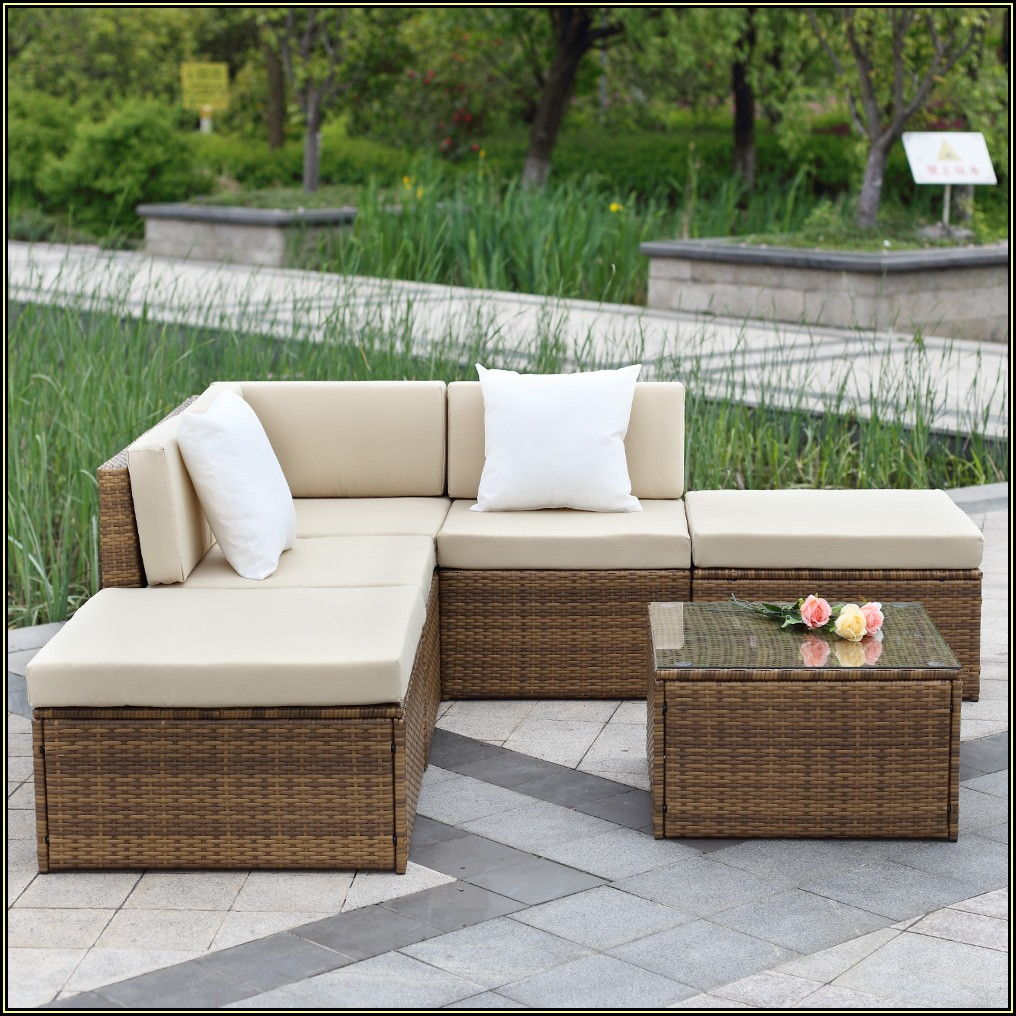 Light Brown Wicker Patio Furniture