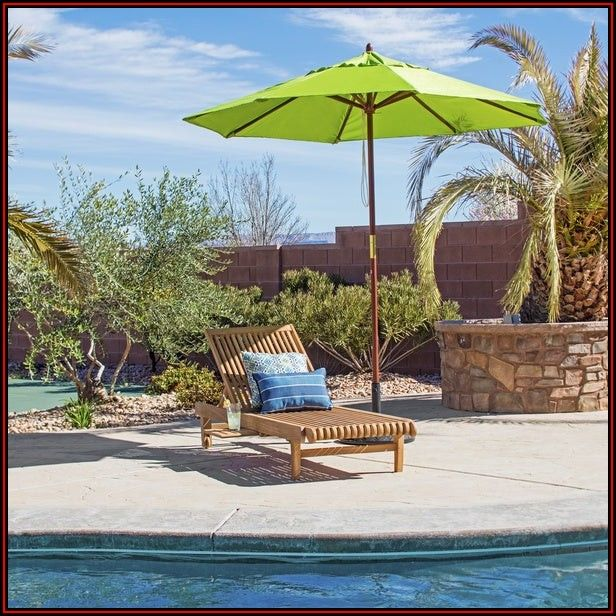 Lime Green Patio Umbrella With Solar Lights